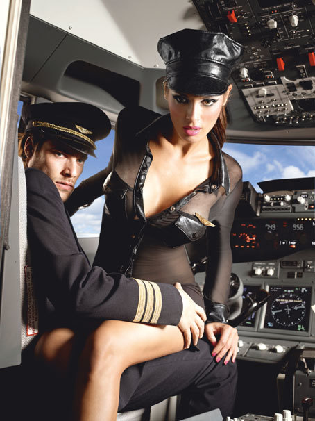 BACI - Костюм стюардессы 3-PIECE BLACK STEWARDESS UNIFORM